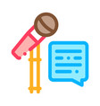 replica talking in microphone icon vector image vector image