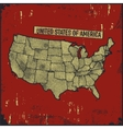 Retro distressed insignia with US map vector image vector image