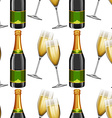 Seamless background with champagne vector image