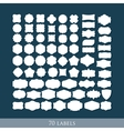 set 70 retro label shapes for design vector image