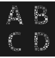 Silver letter set vector image vector image