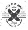 skateboard club badge vector image