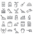 soil ground icons set outline style vector image vector image