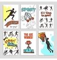 Sport Sketch Cards vector image vector image