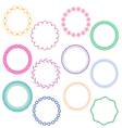 stitched circle frames vector image vector image