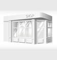 store front exterior mockup realistic white vector image