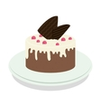 sweet cake icon vector image vector image