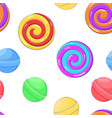 swirl lollipops as seamless pattern colored vector image vector image