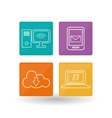 technology icon set design vector image