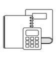 text book school with calculator math vector image vector image