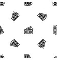 three dollar bills pattern seamless black vector image vector image