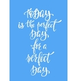 Today Perfect Day for a Perfect Day typography vector image vector image