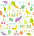 Vegan fruits and vegetables Seamless pattern vector image vector image