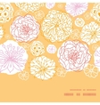 warm day flowers horizontal frame seamless pattern vector image vector image