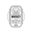whiskey vintage label design premium exclusive vector image vector image