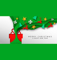 year paper cut ornament gift banner vector image