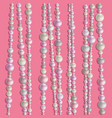 pearl realistic beads vector image