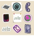 Communication icons set Hand drawn and isolated vector image