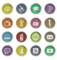 Media simply icons vector image