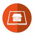 real estate smartphone app design button shadow vector image