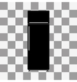 refrigerator Icon on a transparent vector image