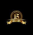 15th years anniversary logo template design
