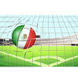 A soccer ball with the flag of Mexico vector image