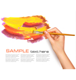 abstract background with hand vector image vector image