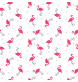 abstract flamingo seamless pattern background vector image vector image