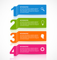 Abstract paper infographics number options design vector image