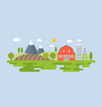 agriculture and farming landscape info graphic vector image