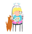 animals lover kids cartoon vector image vector image