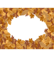 Autumn background with dried leaves vector image vector image