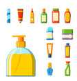 bath plastic bottle shampoo container shower flat vector image vector image