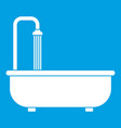 bathroom icon white vector image vector image