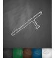 baton icon vector image