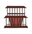 beach cabin isolated vector image