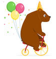 bear performs a circus trick vector image