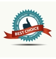 best choice retro label with gold ribbon vector image vector image
