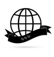 black and white earth with internet vector image vector image