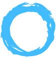 blue brushstroke circular shape vector image vector image