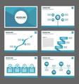 Blue polygon presentation templates Infographic