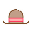 bowler hat vector image vector image