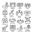 business management line icons pack 32 vector image vector image