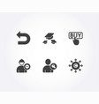 buying find user and engineer icons throw hats vector image