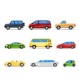car icons in flat style vector image