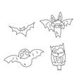 cartoon happy halloween vector image vector image