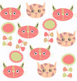 cats abstract animals seamless pattern it is vector image vector image