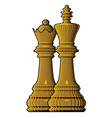 chess king queen vector image vector image