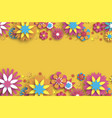 colorful floral card paper cut flowers vector image